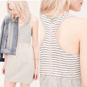 Lou & Grey Striped Linen Mix Racerback Dress